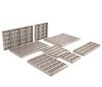 Takviyeli Simetrik Oval Delikli -Paslanmaz Çelik Drenaj Kanalı Izgaraları